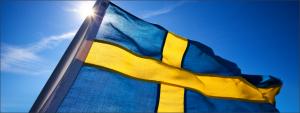 bendera negara swedia